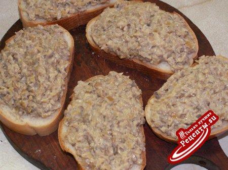"""Закусочные бутерброды """"Грибной аромат"""""""