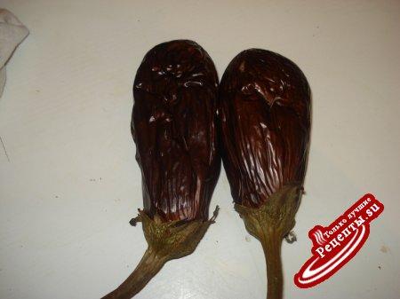 Баклажанный салат с грецкими орехами
