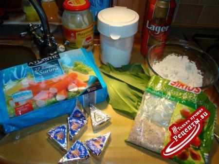 Крабовые палочки в кляре видео рецепт
