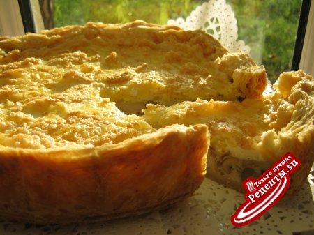 """Пирог с курицей,грибами под сырным безе - """"ЗАГАДКА""""."""