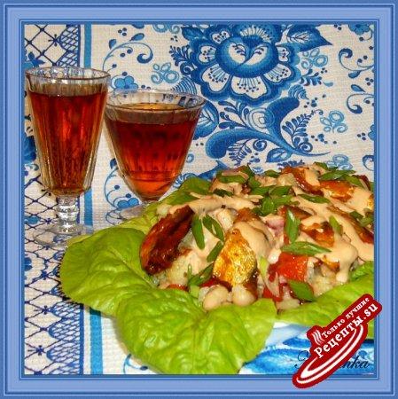 Салат из цветной капусты с килькой