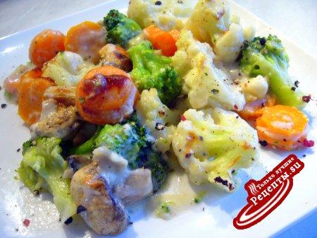 Рецепт постное блюдо с кальмаром