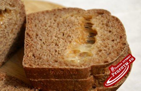 Хлеб кукурузный с сыром ( закваска на основе индийского морского риса)