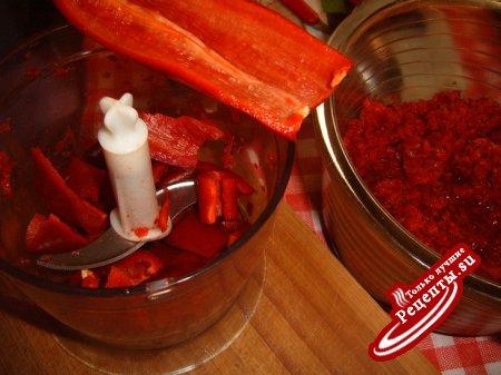 Простая заготовка сладкого перца с солью без варки