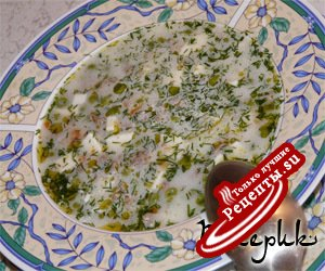 гороховый супчик с копченым сыром