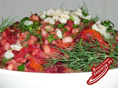 """Овощной гарнир-салат """"Перловка - forever"""" и советы"""