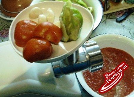 Острая закуска из баклажан(на зиму)