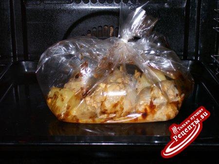 Куриные бедрышки,фаршированные яблочком