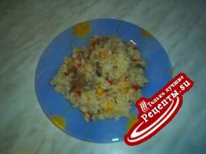 Овощи с рисом и .....