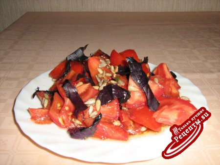 южно-русский салат со средиземноморским акцентом )))
