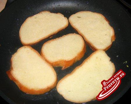 Томатно-сливочные гренки к завтраку