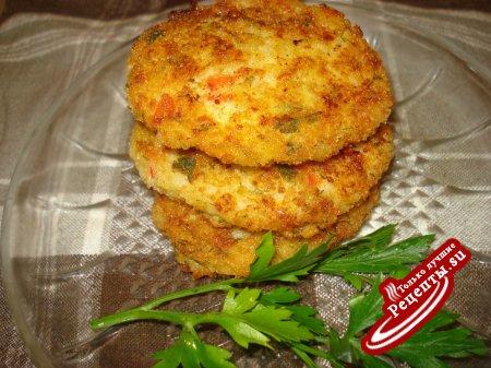 Рисовые котлетки с сыром и зеленью
