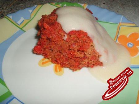 Свекольный кекс с мясом