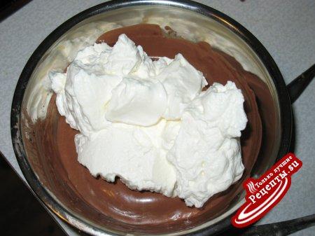 Пирожные с вишней и шоколадом