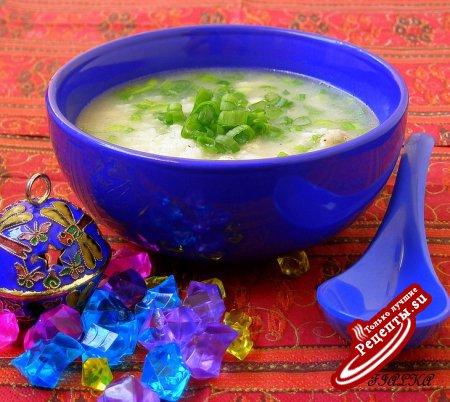 Рисовый Суп с курицей(Chicken Congee)