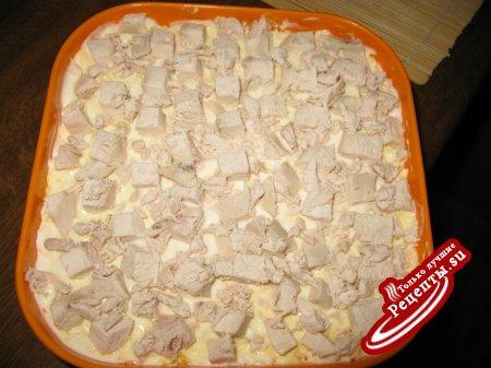 Грибная поляна с курицей рецепты