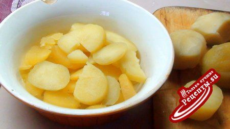Картофельный салат с горчичной заправкой и килечкой!