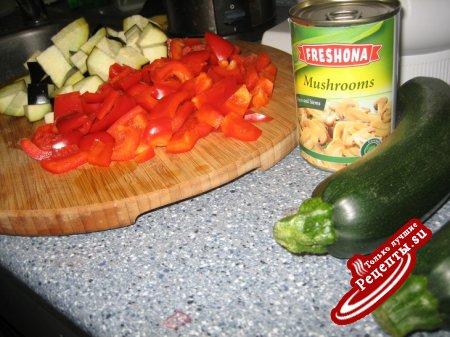 Запеченные овощи с сыром Gorgonzola