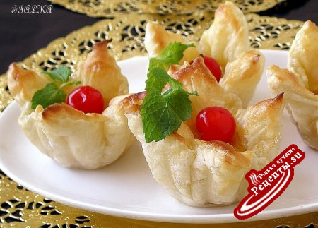 Слоеные пирожные с цитрусовым кремом