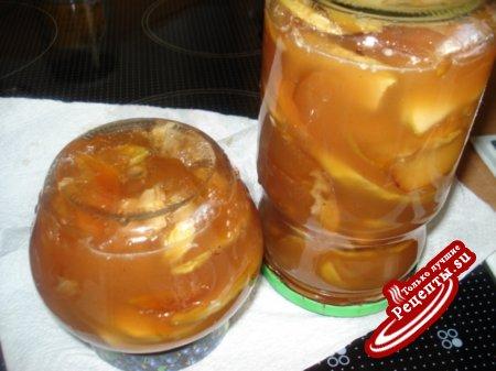 """Варенье """"Янтарное"""" - яблочное в карамели с белым шоколадом."""
