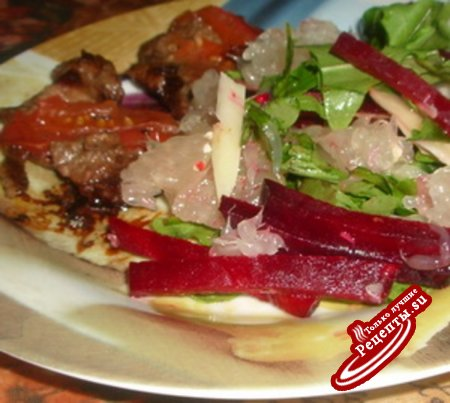 Салат с запеченной свеклой -2