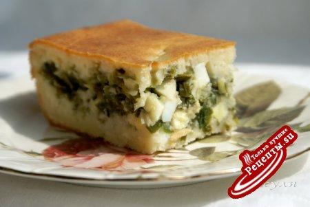 заливной пирог с луком и яйцом рецепт видео #16