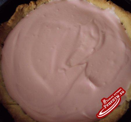 """Сырный тарт с красными ягодами """"Почти чизкейк"""""""