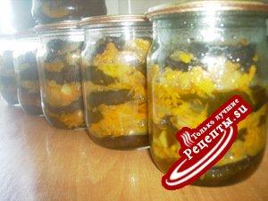Баклажаны с овощами (на зиму)