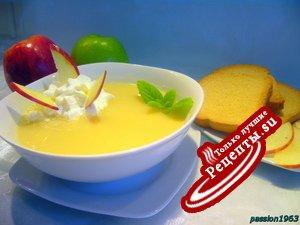 Бархатный холодный яблочный суп