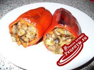 Болгарский перец фаршированный , запеченный ( постный рецепт )