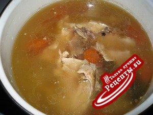 Бульон куриный (советую при гриппе и простуде)