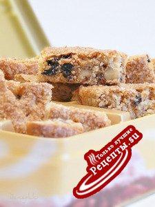 Быстрое печенье с черносливом и грецкими орехами