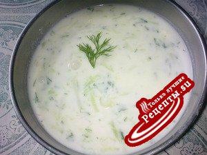 cacik.холодный йогуртовый суп