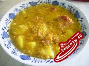 Чечевичный суп на скорую руку