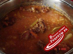 Чечевичный суп с ребрышками