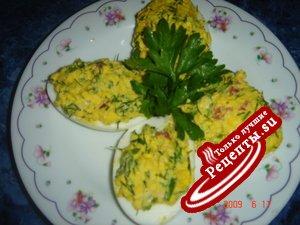 """Фаршированые яйца """"Витаминные""""(мой вариант)"""