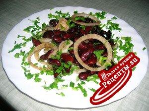 Фасолевый салат по-эльзасски