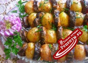Горячая закуска из картофеля и баклажанов