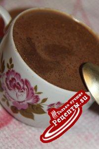 Горячий шоколад на гречневом молоке