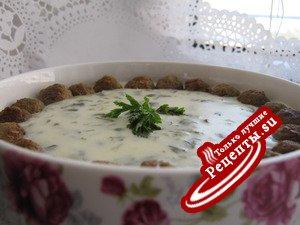 """Густой суп c йогуртом -""""Посыпанный пеплом"""" (ash dough)"""