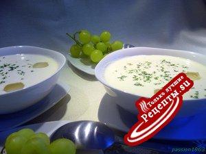 """Холодный миндальный суп """"Белый гаспачо - Ajo blanco """""""