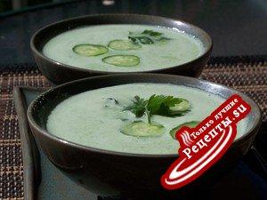Холодный огуречный суп за 5 минут.