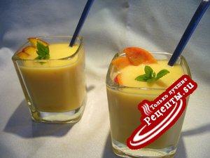 Холодный персиковый десертный суп