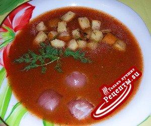 Холодный суп Гаспачо.