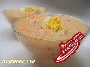 Холодный суп с мацони и томатами.