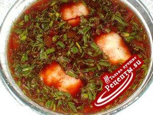 Холодный суп с рыбой