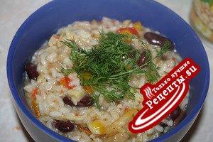 К ПОСТУ вкусный рис с овощами
