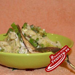 Кабачково-картофельный салат
