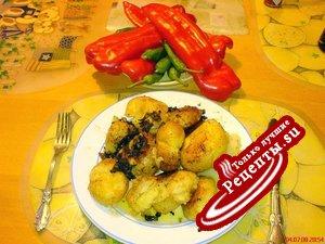 Картофель молодой, запеченный в сковороде и даже слегка подгоревший + ВИДЕОБОНУСЫ!