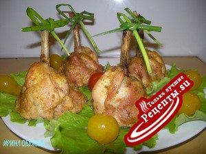 Куриные голени фаршированные гречкой «КОЛОКОЛЬЧИКИ»